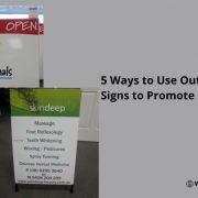 custom a frame signs